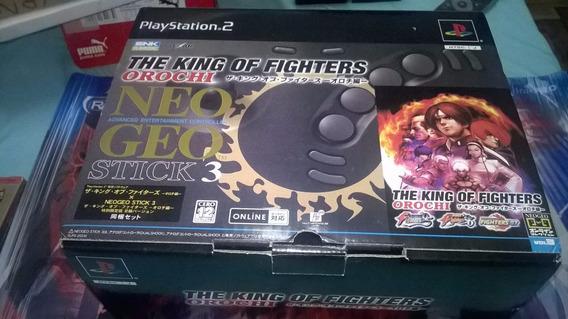 Kof Orochi Neo Geo Stick Bundle Ps2 Cib Leia Descrição