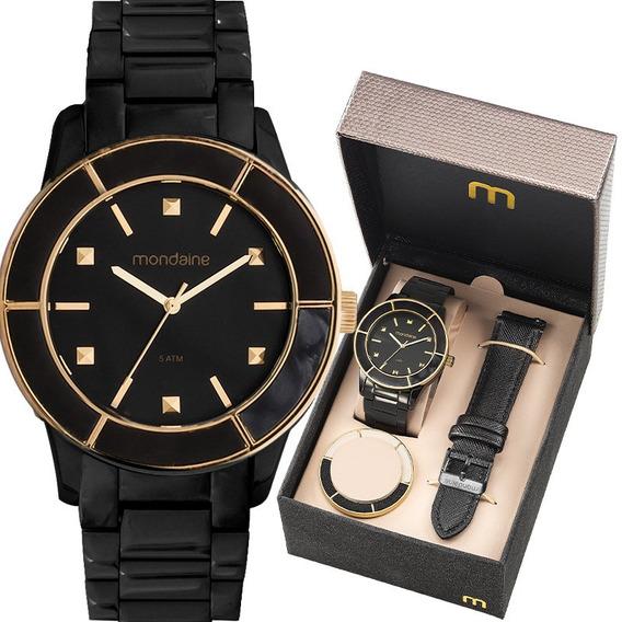 Relógio Mondaine Feminino Troca Pulseira E Aros 99265lpmvpe2