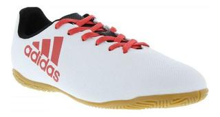 Chuteira adidas X 17.4 Jogo Futsal Solado Borracha Branca