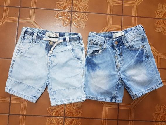 Lote Ropa De Bebe 2 Short De Jean Zara Baby Boy 6/9meses