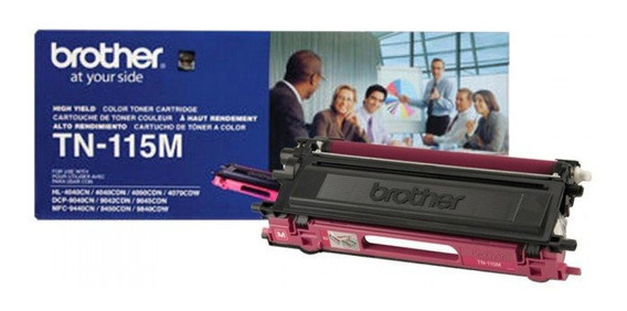 Toner Brother Original Tn-115m Magenta + Brinde Nota Fiscal