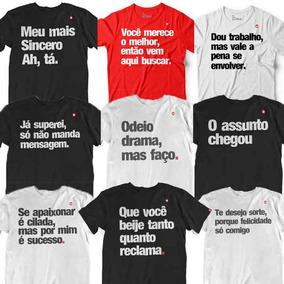 Kit 4 Blusas Camisetas Camisa Unissex Atacado T Shirt Frase