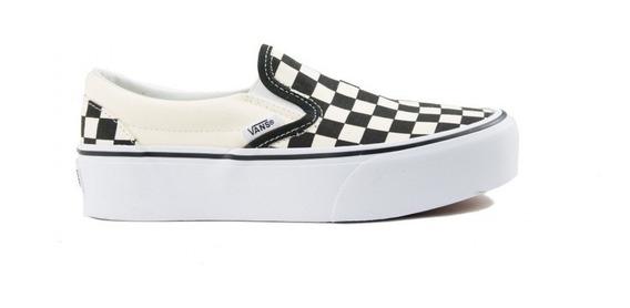 Tenis Vans Plataforma Checker Classic Slip On Look Trendy