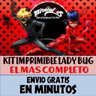 Kit Imprimible Candy Bar Ladybug Miraculous Cat Noir Full