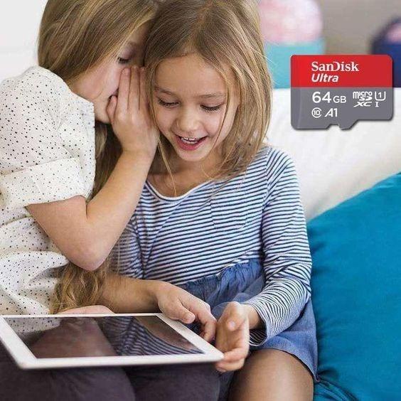 Cartao De Memória Microsd 64gb Sandisk Tablet Ultra 100mbs