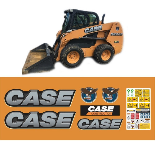 Kit Adesivos Mini Carregadeira Case Sr220 Sr 220 Completo Mk
