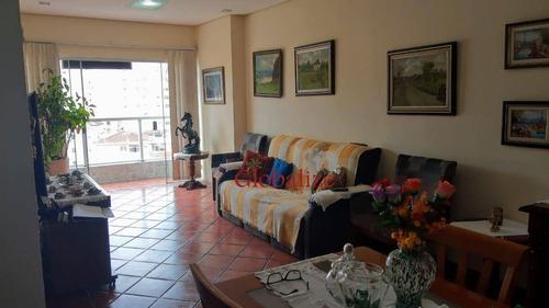 Apartamento Com 3 Dormitórios À Venda, 150 M² Por R$ 695.000,00 - Ponta Da Praia - Santos/sp - Ap0628