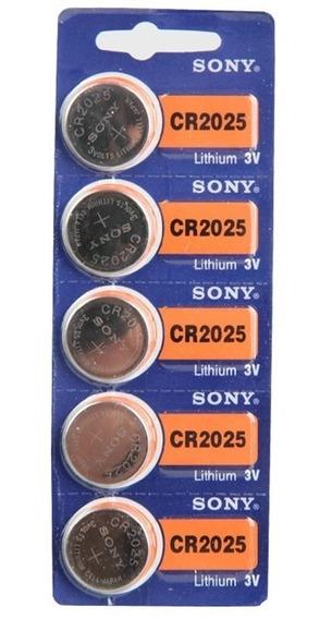 Bateria Moeda Cr2025 3v Pilha Lithium Cartela Com 5 Unidades