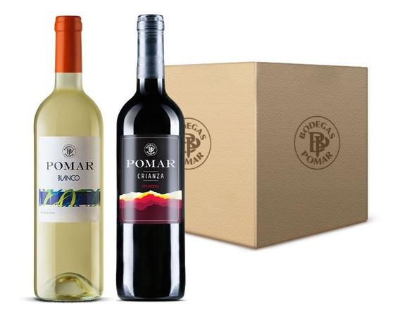 Vino Blanco Pomar (3 Bot) Tinto Crianza Pomar (3 Bot) 0,75 L