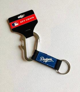 Llavero Carabiner Los Angeles Dodgers, Mlb Producto Oficial