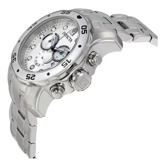Relógio Invicta 0071 Prata Aço Inoxidável Cinza - Pro Diver