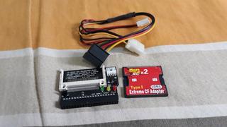 Kit Adaptador Cf Ide+leitor De Cartão Micro Sd
