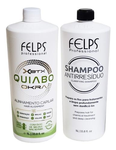 Imagem 1 de 3 de Progressiva De Quiabo Felps Kit Profis -  Shampoo + Selante