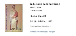 Libro : La Historia De La Salvacion