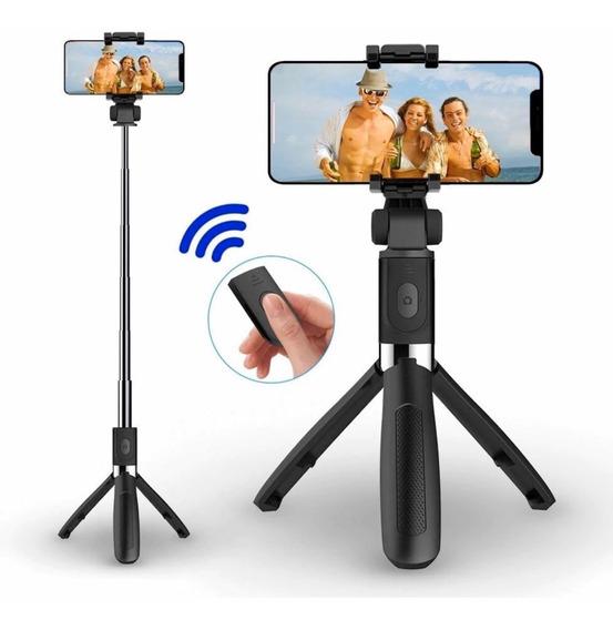 Pau De Selfie, Tripé Bastão Ajustável C/ Bluetooth Todos Cel