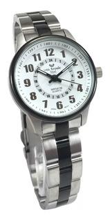 Reloj Vox Tronic Mujer Acero Pavonado Sumergible 50m Gtia
