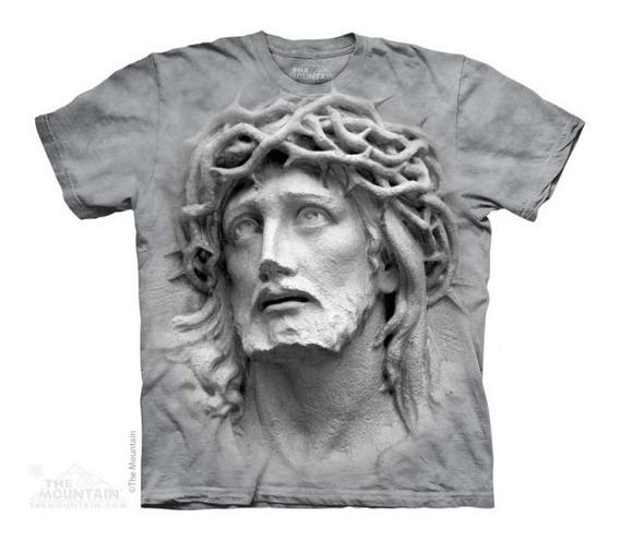 Camiseta 100% Algodão The Mountain - Jesus Cristo 3d