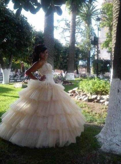 Vestido De Xv Años Color Oro