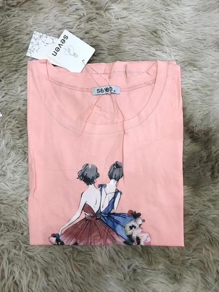 Blusa T-shirt Feminina Estampas Bailarina Verão Importardo