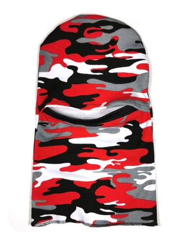 Imagen 1 de 2 de Balaclava Pasamontañas Cubrebocas Camuflaje Woodland Rojo
