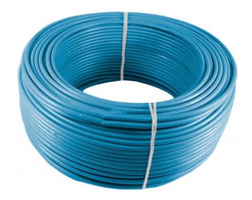 Imagen 1 de 1 de Alambre O Cable Rígido N10'' Azul X 100 Metros Procables