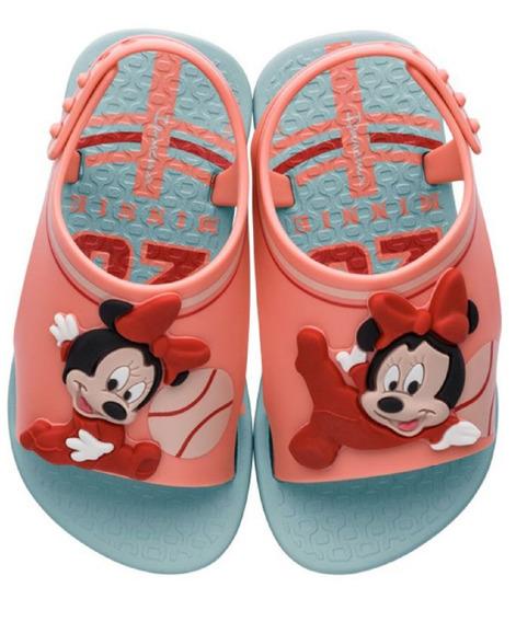 Sandália Menina Minnie Disney Verde Ipanema 26111 Clique+