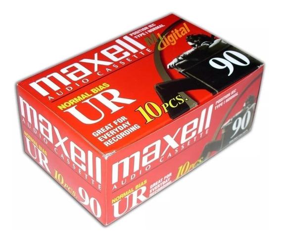 Kit 2 Caixas Fita Cassete K-7 Maxell Ur60 + 1 Ur90