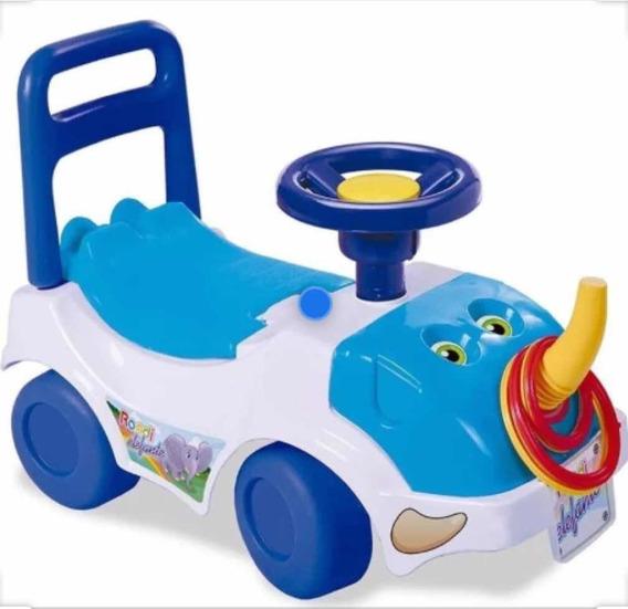 Andador Pata Pata Elefante Azul De Rondi July Toys
