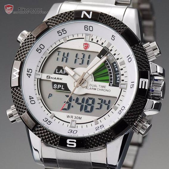 Relógio Shark Aço Sh046