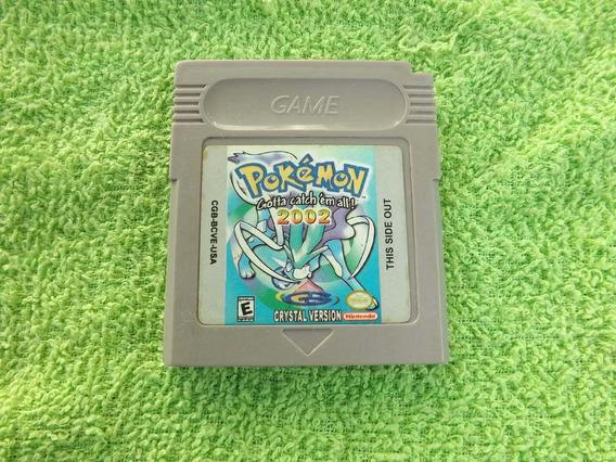 Cartucho Jogo Pokémon Crystal Game Boy Color Salvando Gbc