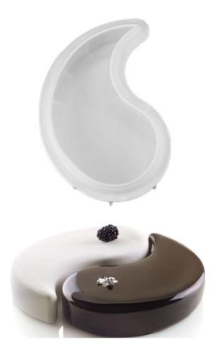 Imagen 1 de 6 de Yinyangshapesiliconacakemold 1 Pieza Para Brownie De Ch