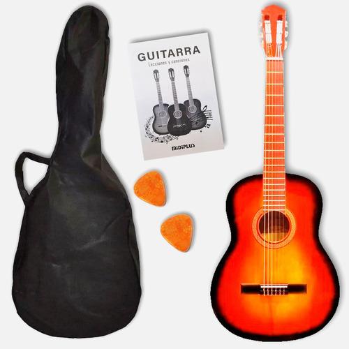 Guitarra Criolla 3/4 Niños Clásica Con Funda Varios Colores