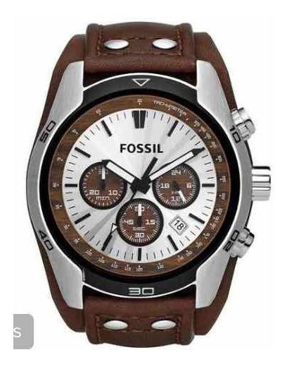 Relógio Fossil Couro Marrom Diâmetro 4,4