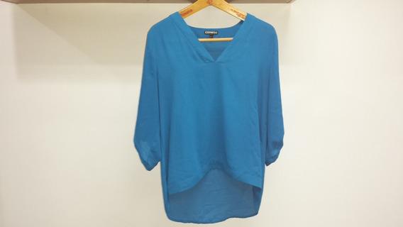 Blusa Marca Express Azul Claro Original Talla M