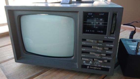 Tv Televisão Televisor Analógico C/ Rádio Am Fm Preto Branco