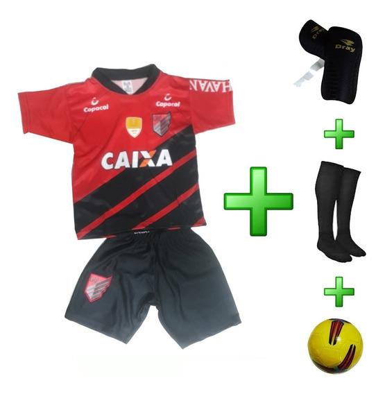 Uniforme Infantil Athletico Paranaense Atlético + 3 Itens
