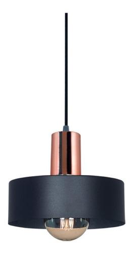 Colgante De Chapa Color Negro Diámetro 30 1 Luz Iluminacion