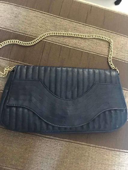 Bolsa De Mão Azul Marinho Usada