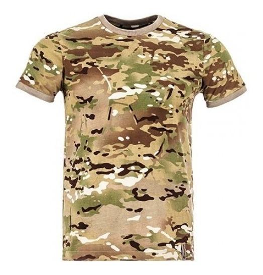 Camiseta Tática T-shirt Camuflado Multicam - Invictus