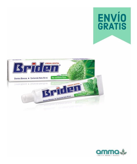 Briden Crema Dental Sin Flúor Caja 10 Pz 50ml + Envío