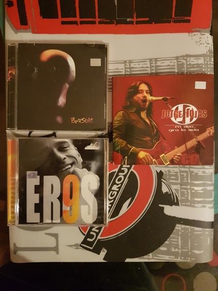 Lote 3 Cds Jorge Rojas - Bersuit - Eros