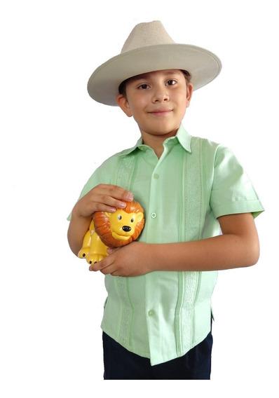 Guayabera Yucateca Para Niño 100% Lino