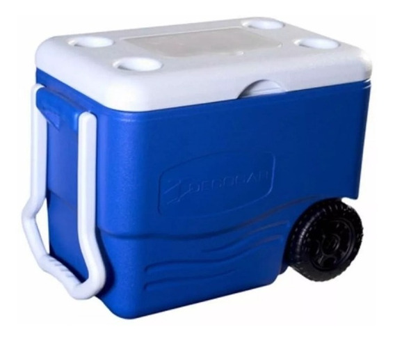 Cava Playera Termica Con Ruedas 40 Litros Ice Roller Decocar
