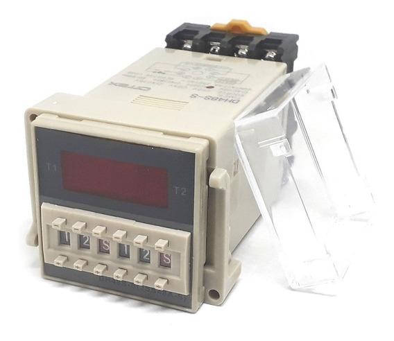 Dh48s-s 220v Rele De Tempo Timer Cíclico H M S 0.1s