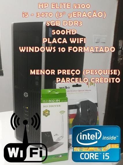 Pc Compacto Hp Elite 8300 I5 3470 Wifi 8gb 500hd W10 Cpu
