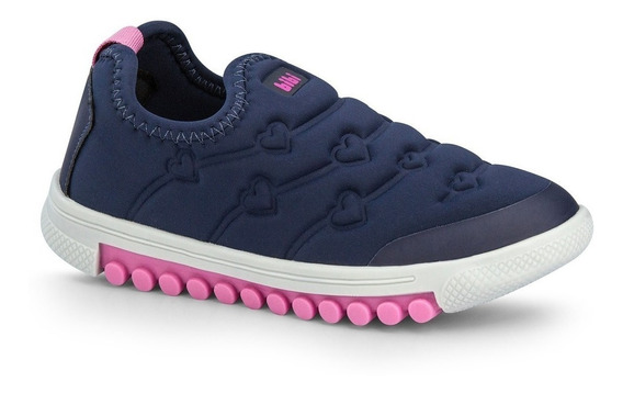 Tênis Infantil Bibi Azul-pink Roller New