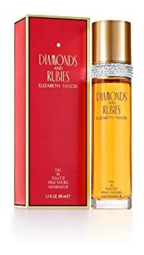 Diamantes Y Rubies Por Elizabeth Taylor Para Mujeres, Eau D
