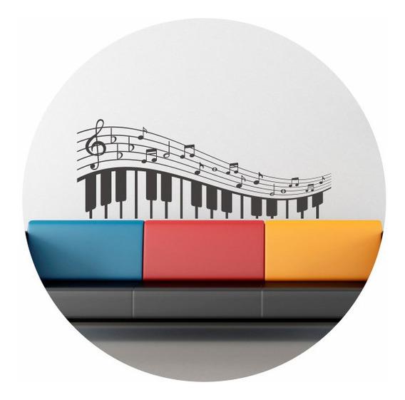 Vinilo Decorativo Piano Notas Musical Pentagrama 1,50mtx59cm