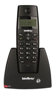 Telefone Sem Fio Preto Ts40id Com Identificador Intelbras