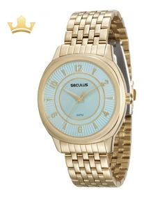 Relógio Seculus Feminino 20505lpsvds1 Com Nf